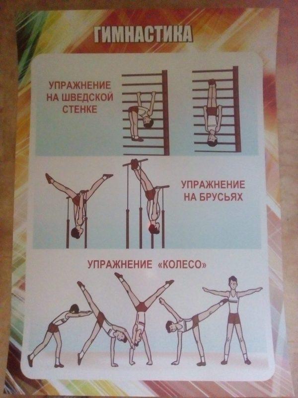 Gimnastika-uprazhnenie-na-shvedskoj-stenke-na-brusyah-koleso
