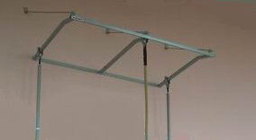 Wall console for ropes and poles (3 hooks)