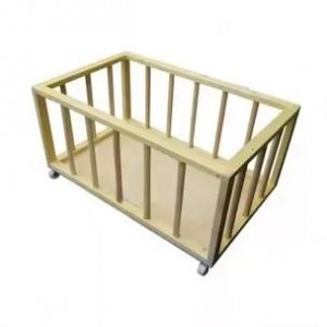 Container-basket (cart-box) for balls and sports equipment 60x60x50 cm